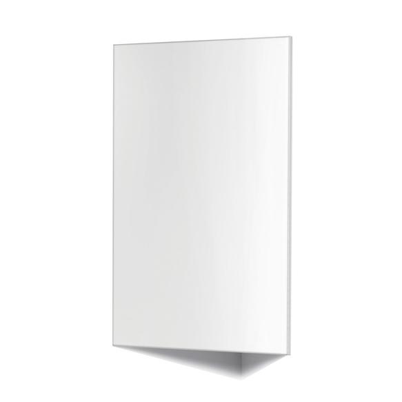 peeglikapp nurka paigaldamiseks, valge kõrgläige MDF