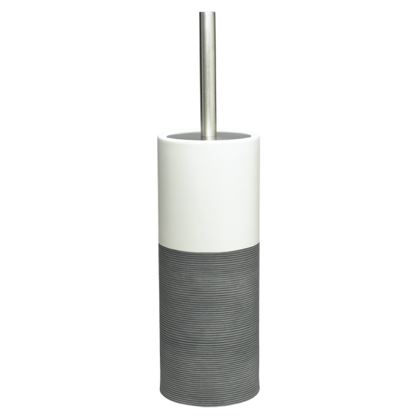 Doppip toilet brush&holder, grey,, hand made ceramics
