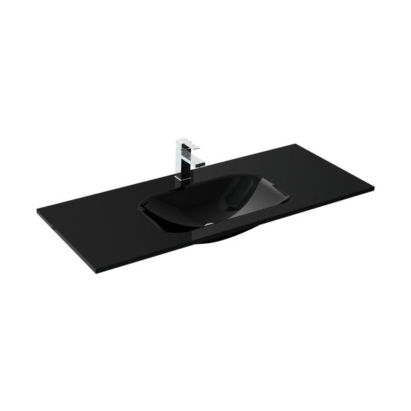 glass washbasin loka 100 black