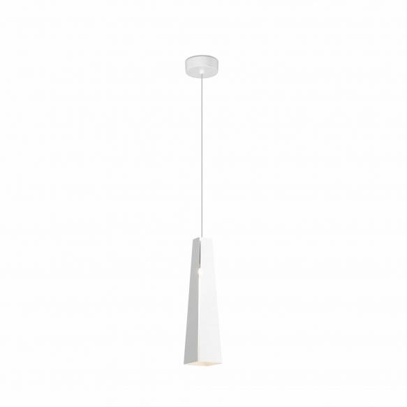 PLUMA LED white pendant lamp,SMD LED 6W 3000K 450Lm,aluminium