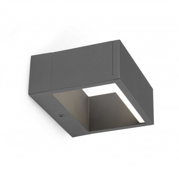 ALPI LED õuevalgusti seinale, tumehall, alumiinium,LED lamp on komplektis