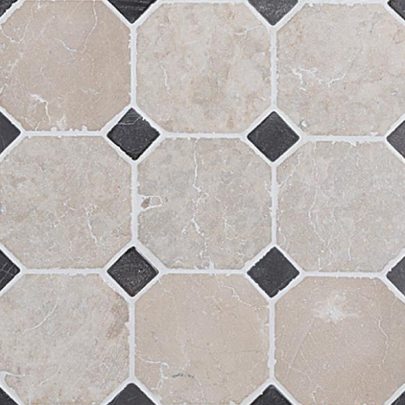 Classic Pattern 100x100mm White-Grey