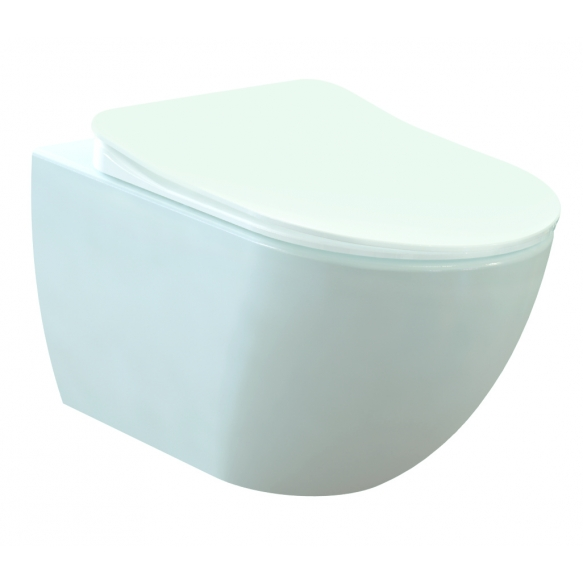 rimfree wall hung toilet Free, white, without seat