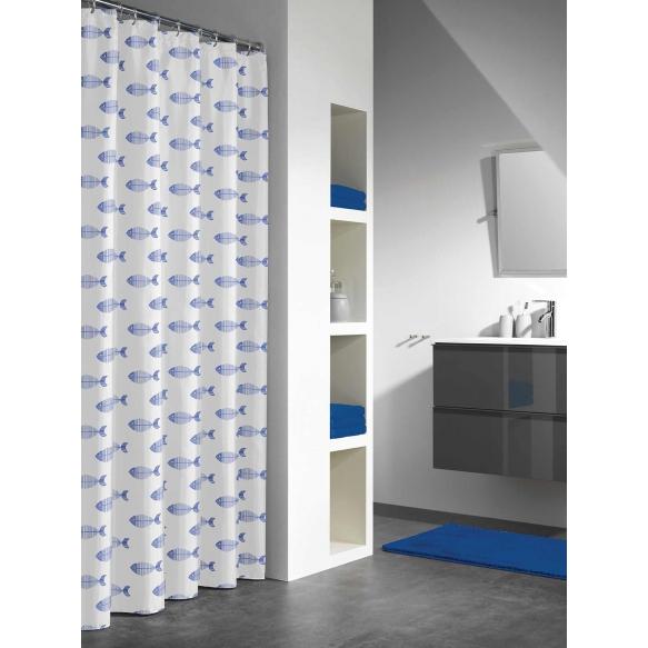 NEMO shower curtain vinyl, blue,180x200cm