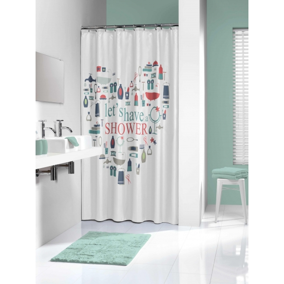 IMAG shower curtain textile, multicolour 180x200cm