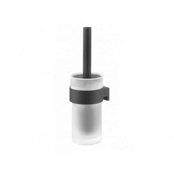 BOLD toilet brush & holder, black, no screw assembling