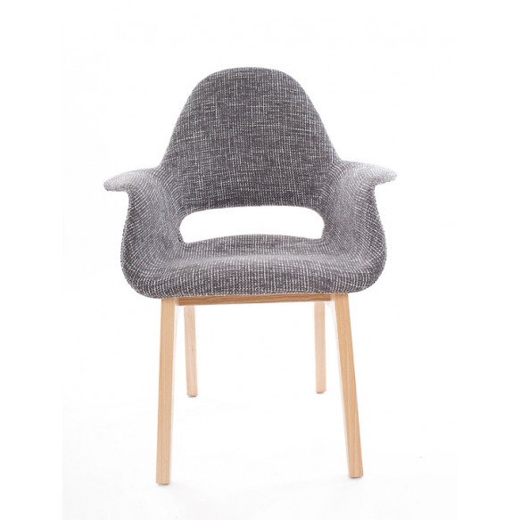 armchair Arne II, fabric 330-9, natural wood feet
