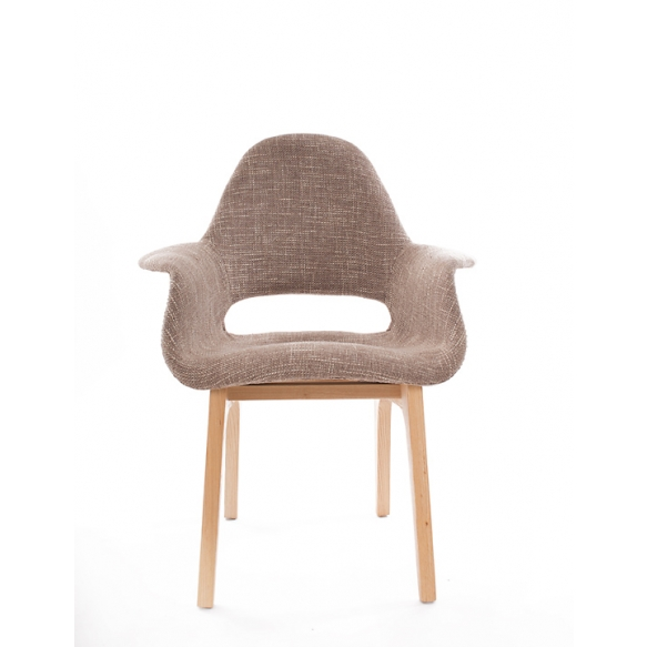 armchair Arne II, fabric 330-1, natural wood feet