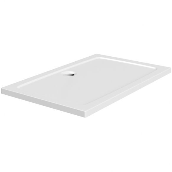 120x90 stone shower tray, white,incl front panel, feet and waste S020+S0510+1711C+S0507