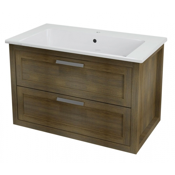 LARITA vanity unit 86x55x48cm,oak wood, graphite (no basin)