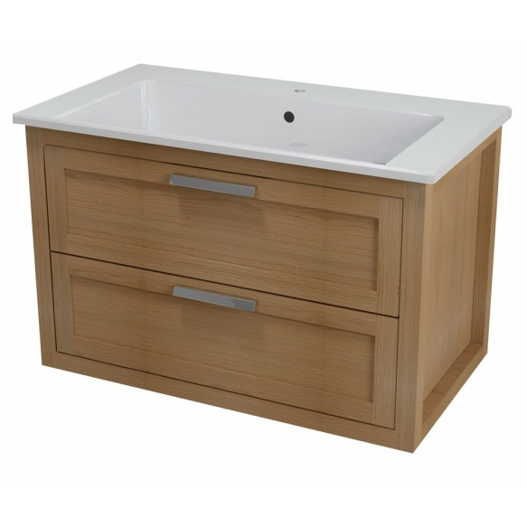 LARITA vanity unit 86x55x48cm,oak wood, natural (no basin)