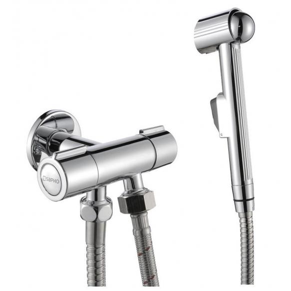 Bidet sprayer with double valve, chrome