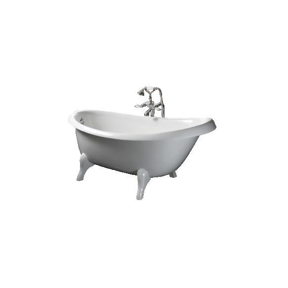 Cast stone bath VICTORIA, stilo legs