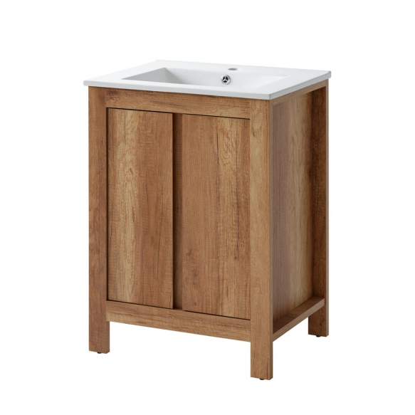 cabinet under washbasin Classic Oak 60 cm (2D), basin not included