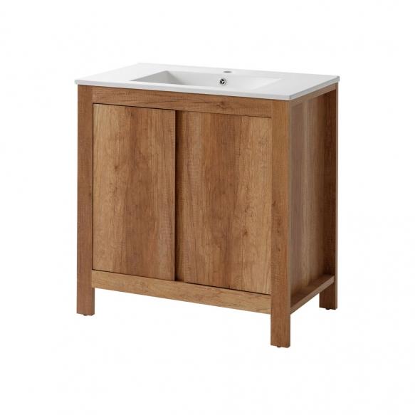 cabinet under washbasin Classic Oak 80 cm (2D), basin not included