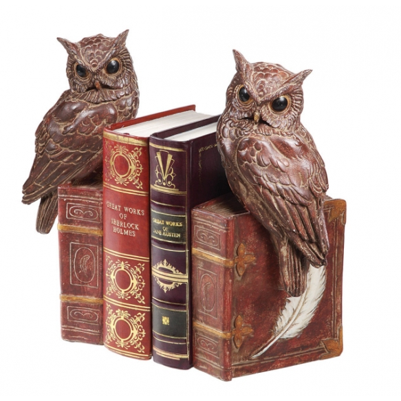 "12""H Resin Owl Bookends 1pcs"