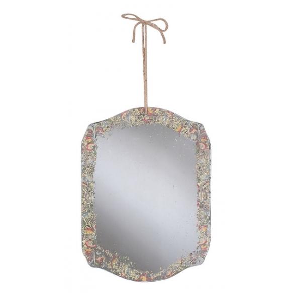 "11-1/2""L x 15-3/4""H Antique Mirror w/ Decal"