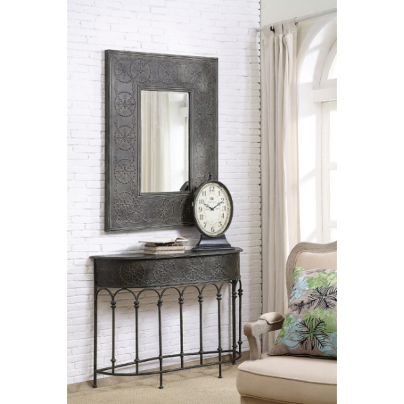 37 L X 48 1 2 H Embossed Metal Framed Mirror