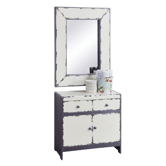 """32""""L x 42""""H MDF Framed Mirror,Wht, Size 18-1/2""""L x 29-1/2""""H"""