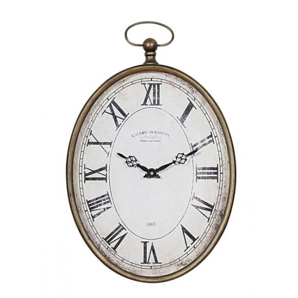 """12-1/2""""L x 20-1/4""""H Metal Pocket Watch Wall Clock"""