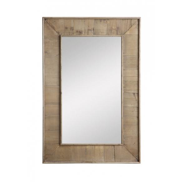 """24""""L x 36""""H Oak Wood Framed Mirror, Mirror Size 14-1/2""""L x 26-1/2""""H,"""