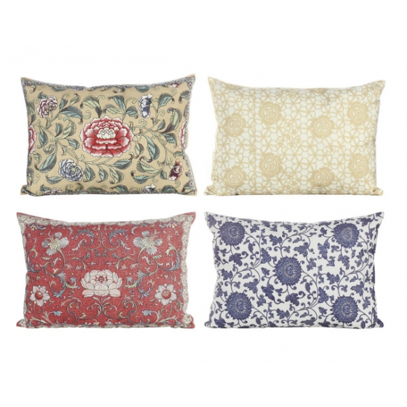"""19""""L Fabric Pillow w/ Floral Print, 4 Styles"""