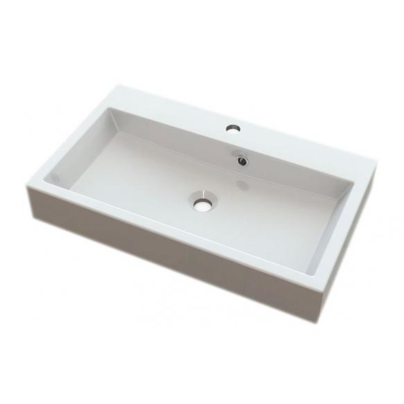 ORINOKO Cultured Marble Washbasin 70x10x42cm, white