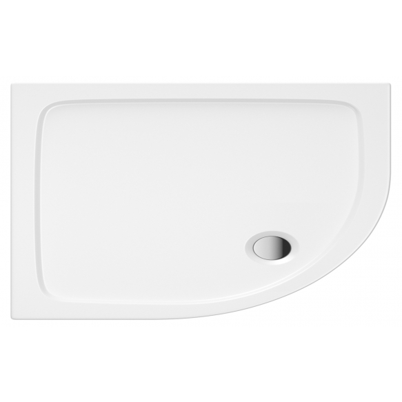 90x80 quadrant stone shower tray, left corner, incl front panel, feet and waste S0030+ 1711C+S0043(KQ4)