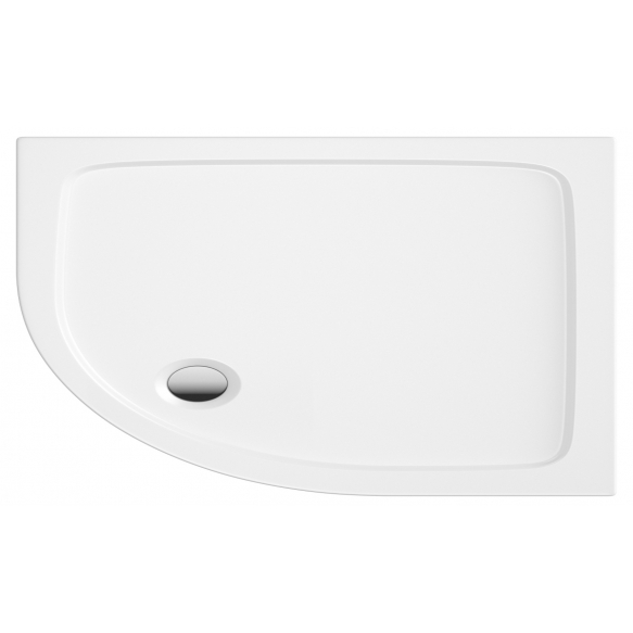 90x80 quadrant stone shower tray, right corner, incl front panel, feet and waste S0031+ 1711C+S0043(KQ4)