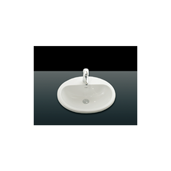 43,5X52,5 cm TOPCOUNTER WASHBASIN WHITE