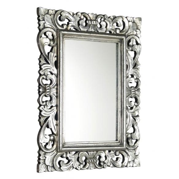 SAMBLUNG mirror with frame, 40x70cm, Silver Antique @ Deko