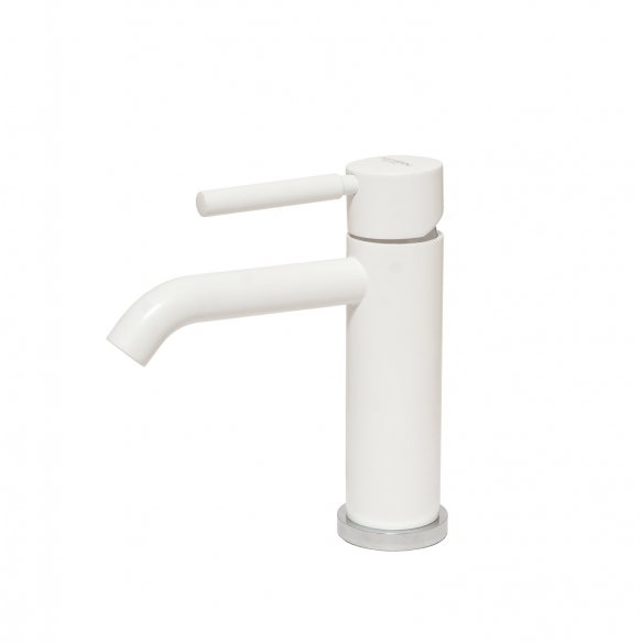 basin mixer Form A, mat white finish