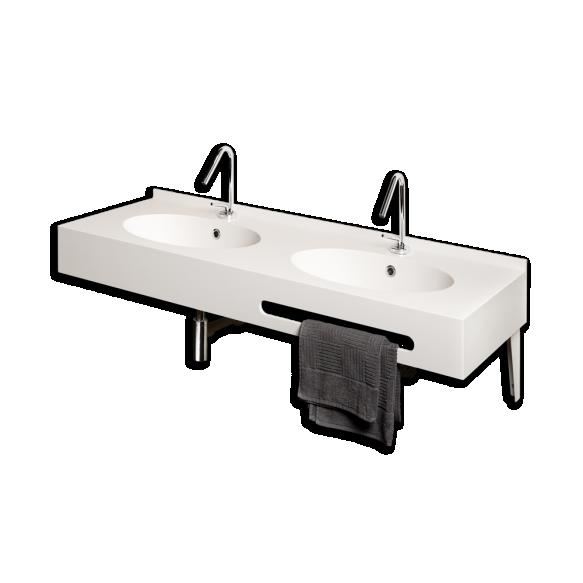 silkstone double basin Ovo, 140 cm
