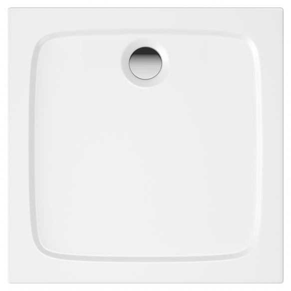 76X76 stone shower tray, white