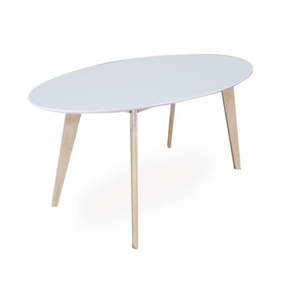 Dining Table Nordic Oval White Oak 160x90 Cm