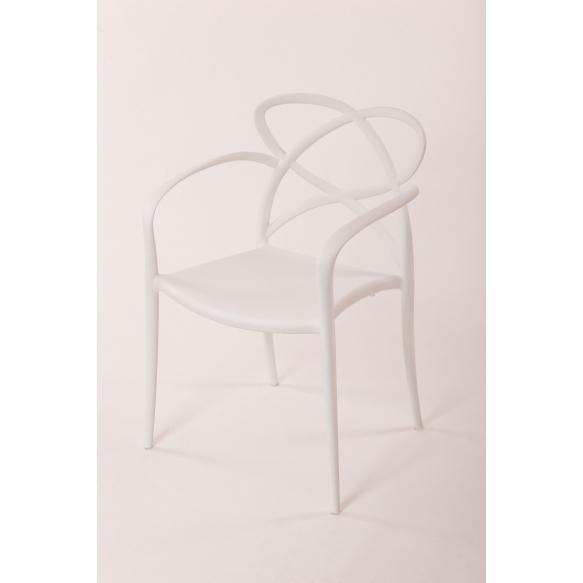 plastic armchair Cocha, white