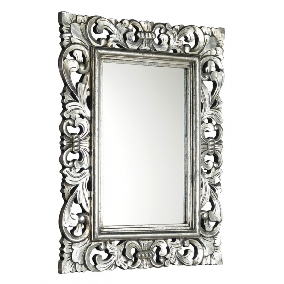 SAMBLUNG mirror with frame, 60x80cm, Silver Antique @ Deko