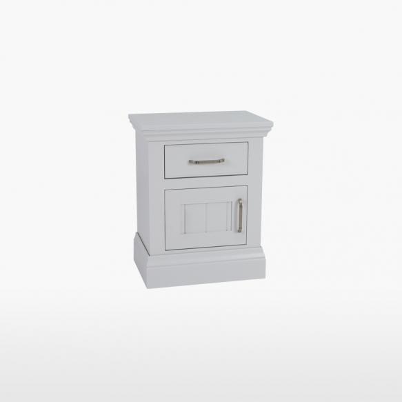 1 sahtli ja 1 uksega öökapp, uks avaneb vasakule