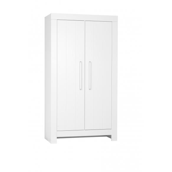 2 uksega riidekapp Calmo, valge