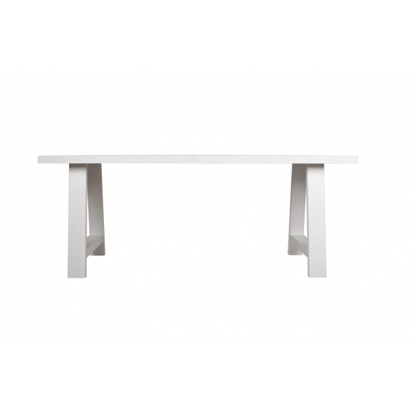 söögilaud A-Framed, valge, 200x90 cm