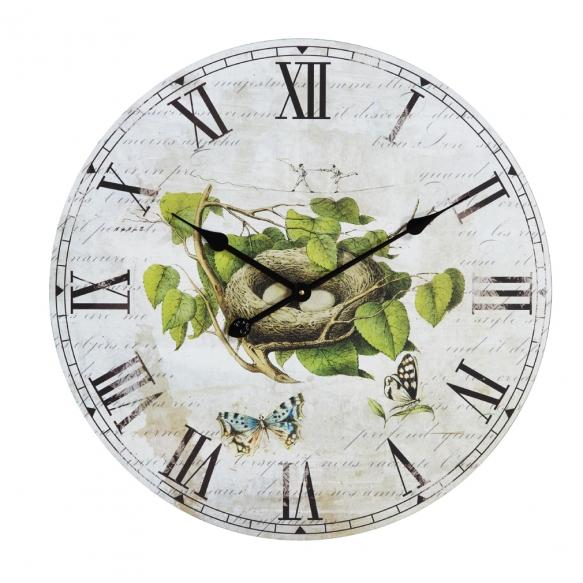 """23-1/2""""Round Vintage Nest MDF Wall Clock"""