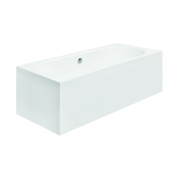 acrylic bath Vita, 150x75 cm, drain in the middle +feet+long side panel