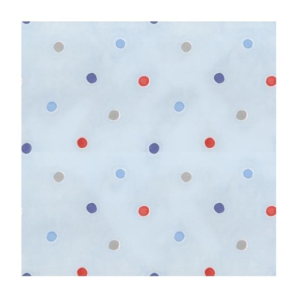 Hoopla Spots SidewallBlue