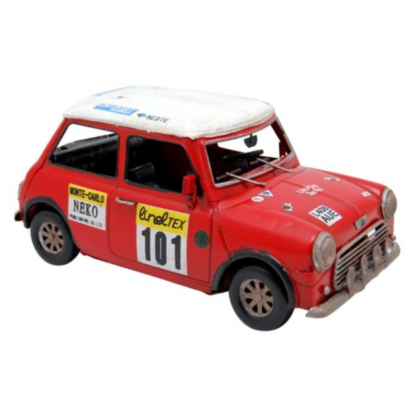 Decoration Sportive red car number 101, 25x13cm
