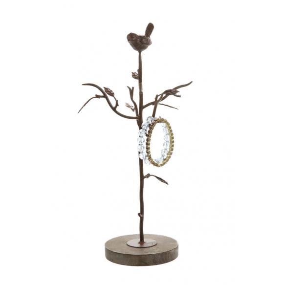 "15""H Metal Jewelry Holder w/ Bird"