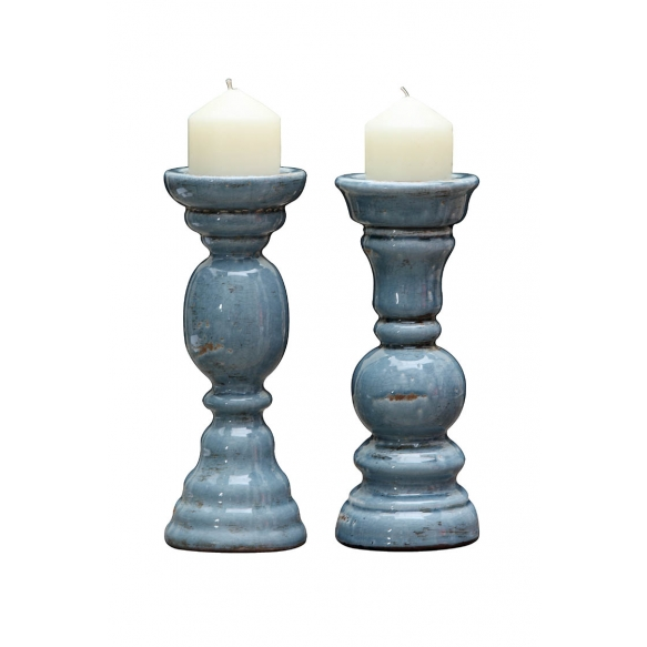 "12-3/8""H Terra Cotta Candle Holder, 2 Styles"