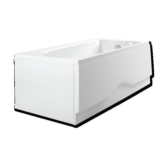 simple acrylic bathtub, 160x70 cm, on frame, long , short skirt and drain included