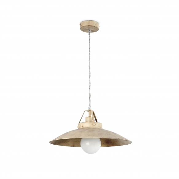 CEILING LAMP TAVERNA 1L E27 60W ANTIQUE WHITE, METAL