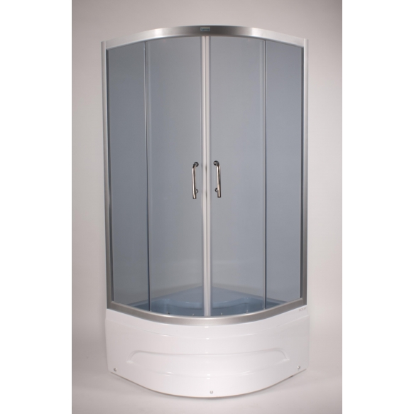 Dushinurk DN002 90x90x162cm ümar, almiiniumist raam/5mm hall turvaklaas (alusele DNA01)
