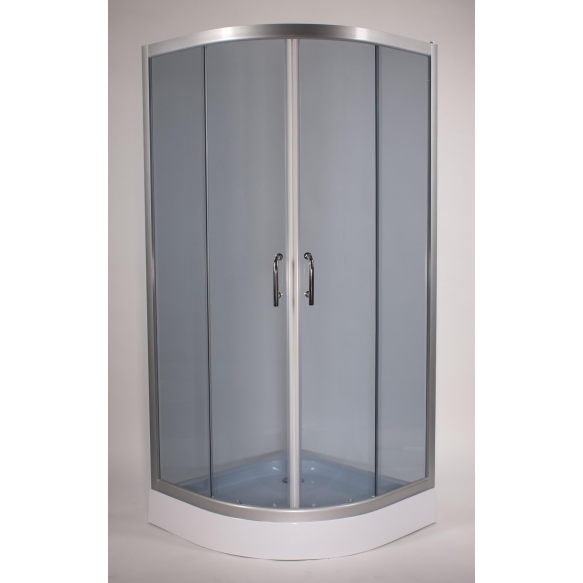 Dushinurk DN008 90x90x190cm ümar, almiiniumist raam/5mm hall turvaklaas (alusele DNA03)